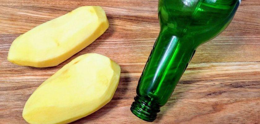 Беру пустую бутылку и картошку и готовлю интересную закуску