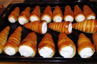 Слоеные трубочки с белковым кремом: нежное воздушное пирожное, любимое с детства