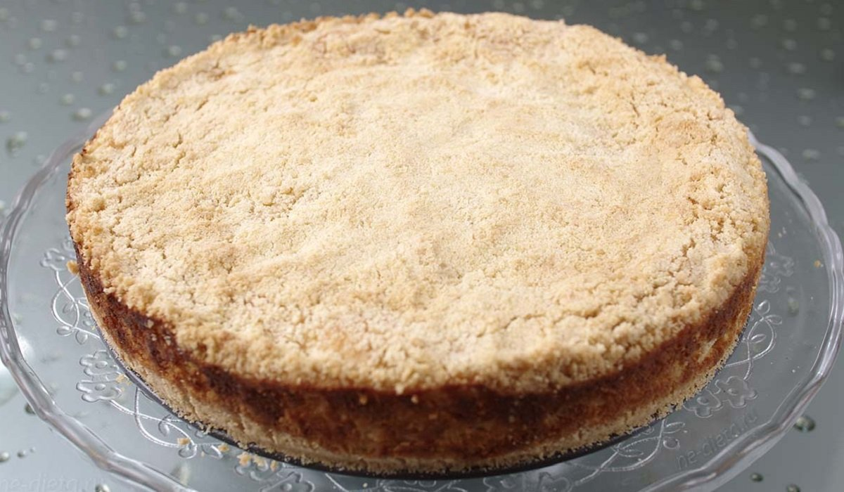 Мой любимый пирог «Насыпной» с творожной начинкой