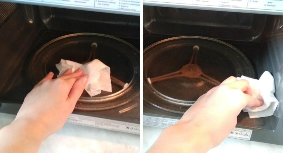 Зачем класть влажные салфетки в микроволновку