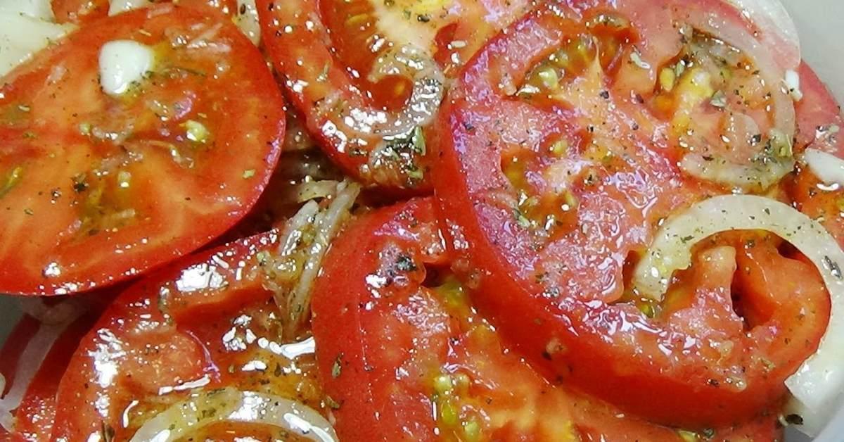Лучшая томатная закуска к мясу. И готовить всего 5 минут!