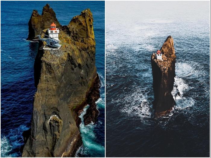 Исландский маяк Тридрангар – мечта интроверта и самое труднодоступное место на планете