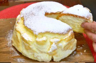 Нежнейший пирог-суфле на йогурте — невероятно пышный и вкусный