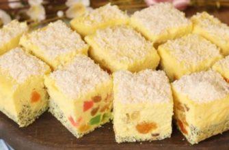 Невесомый десерт «Битое стекло» из самого простого творога