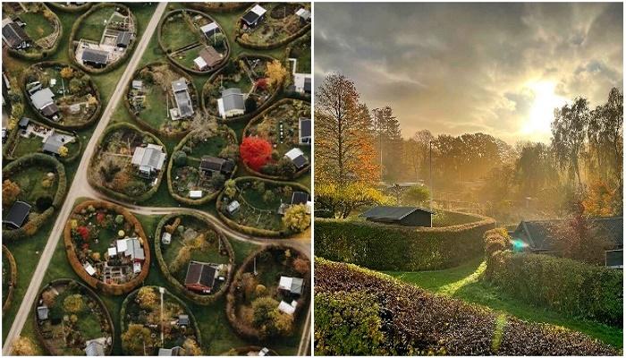 Почему в пригороде Копенгагена дворы овальной формы и нет подъездных дорог к дому