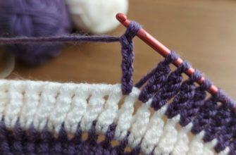 Самое простое тунисское вязание — но как изящно и красиво