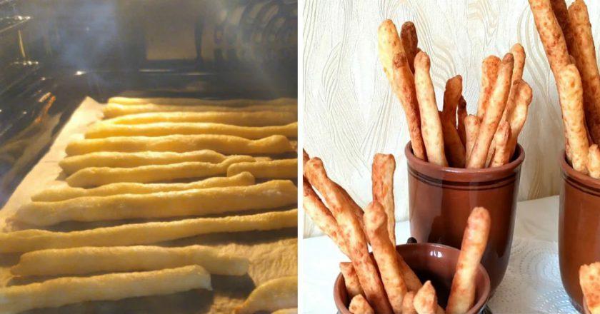 Хрустящие палочки со вкусом сыра и ароматом трав