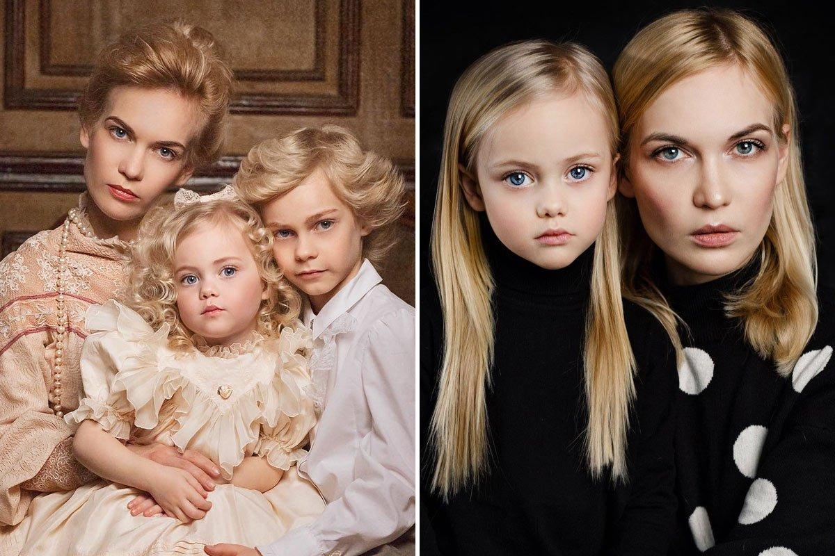 Как выглядит мама одних из самых красивых детей на планете — моделей Димы и Виолетты