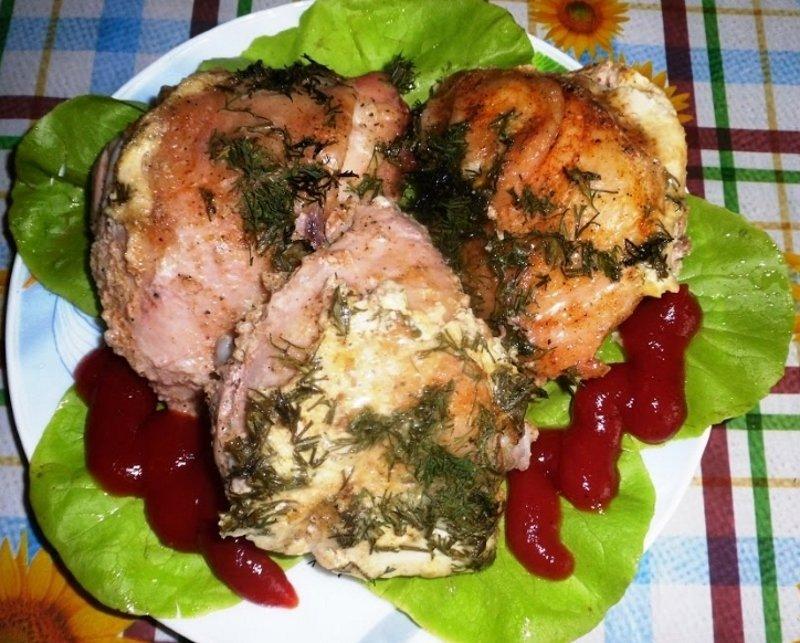 Рецепт курицы в кефире из духовки