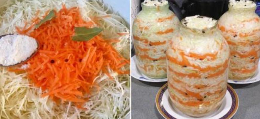 Хрустящая квашеная капуста с морковью
