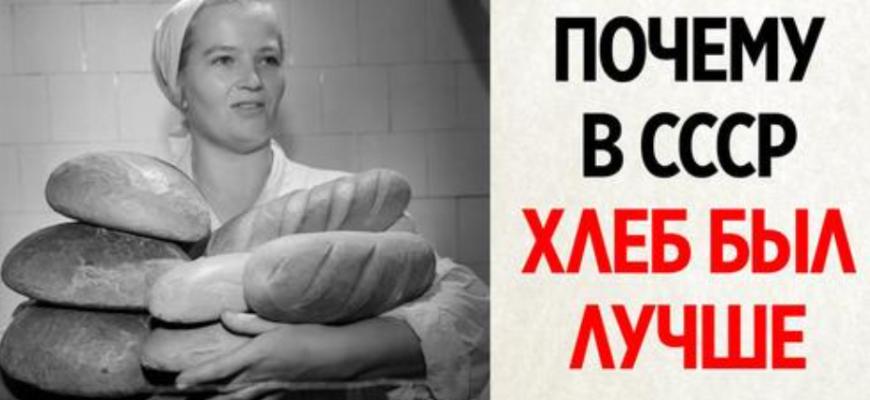 Правда ли, что советский хлеб был вкуснее, а сейчас совсем не то